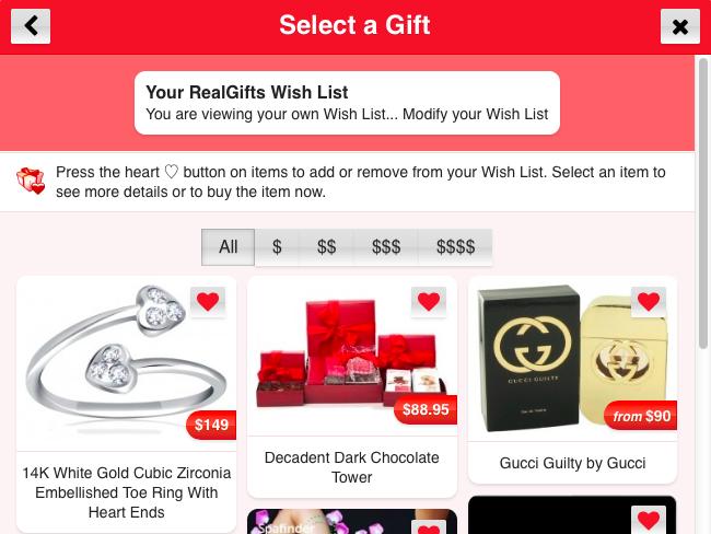 Edit Your Wish List
