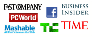 Fast Company, Business Insider, Facebook fbFund, PCWorld, Mashable, TechCrunch, TIME Magazine